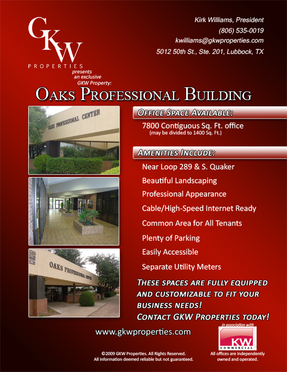 The Oaks Professional Building in Lubbock, TX